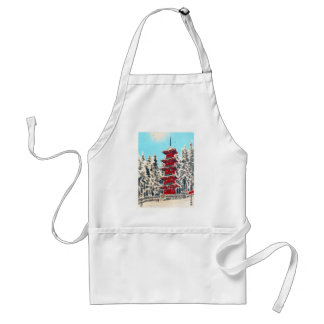 Cool oriental japanese clasic ancient shrine art standard apron