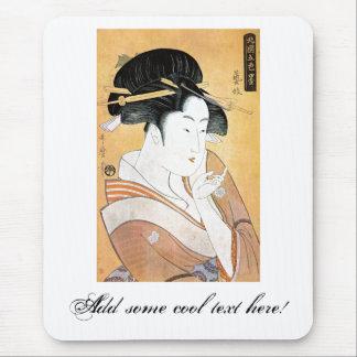 Cool Oriental Japanese Classei Geisha Mouse Pad