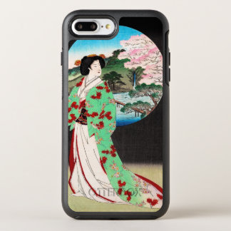 Cool oriental japanese classic geisha lady art OtterBox symmetry iPhone 7 plus case