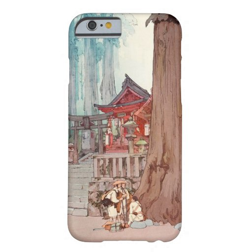 Cool oriental japanese classic temple shrine art iPhone 6 case