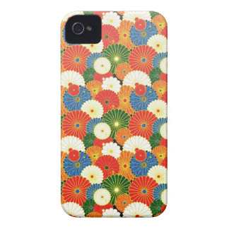 Cool oriental japanese colourful umbrela pattern iPhone 4 covers