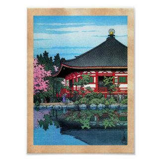 Cool oriental japanese Daigo Denpo temple art Poster