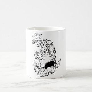 Cool Oriental Japanese Dead Koi Fish Carp Skull Coffee Mug