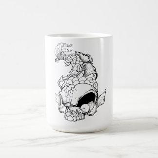 Cool Oriental Japanese Dead Koi Fish Carp Skull Classic White Coffee Mug