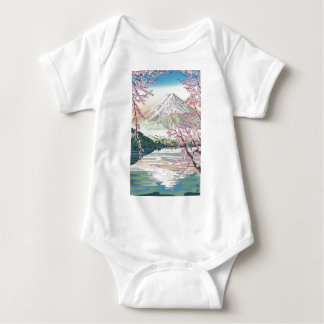 Cool Oriental Japanese Fuji Spring Cherry Tree Art Baby Bodysuit