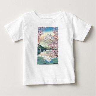 Cool Oriental Japanese Fuji Spring Cherry Tree Art Baby T-Shirt