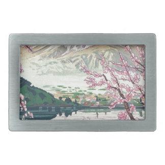Cool Oriental Japanese Fuji Spring Cherry Tree Art Belt Buckles
