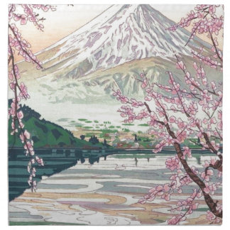 Cool Oriental Japanese Fuji Spring Cherry Tree Art Napkin
