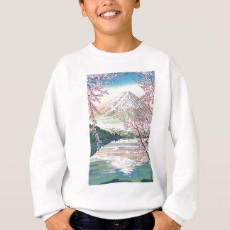 Cool Oriental Japanese Fuji Spring Cherry Tree Art Sweatshirt