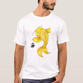 Cool Oriental Japanese Gold Koi Fish Carp tattoo T-Shirt
