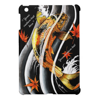 Cool oriental japanese Gold Lucky Koi Fish tattoo iPad Mini Cover