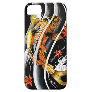 Cool oriental japanese Gold Lucky Koi Fish tattoo iPhone 5 Covers