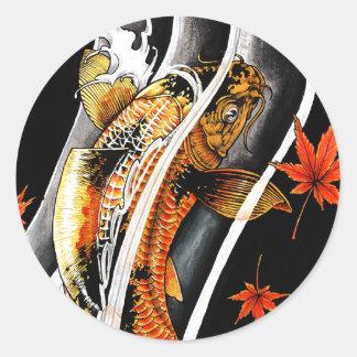 Koi carp fish tattoo stickers sticker designs for Lucky koi fish
