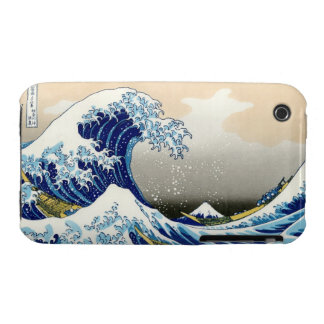 Cool oriental japanese Hokusai Fuji View landscape iPhone 3 Case-Mate Cases
