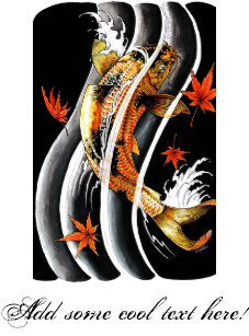 24669971e Cool Oriental Japanese Koi Lucky Carp Water Ink Mouse Pad