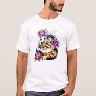 Cool Oriental Japanese Lucky Koi Carp tattoo T-Shirt