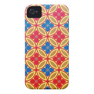 Cool oriental japanese orange blue circle Case-Mate iPhone 4 case