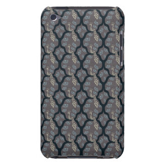 Cool oriental japanese peacock abstract pattern barely there iPod case