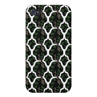 Cool oriental japanese peacock abstract pern case for iPhone 4