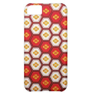 Cool oriental japanese pentagon vibrant patttern iPhone 5C case