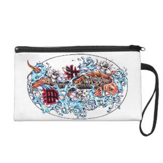 Cool oriental japanese koi fish lotus water tattoo gifts for Koi fish purse