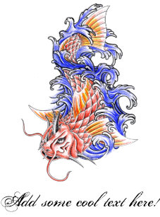 ecb5be6f9 Cool Oriental Japanese Red Koi Carp Fish tattoo Mouse Pad