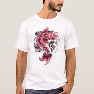 Cool Oriental Japanese Red Koi Carp Fish tattoo T-Shirt