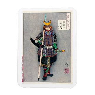 Cool oriental japanese Samurai Warrior Yari Spear Magnet