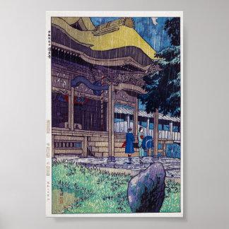 Cool oriental Japanese Shiro Kasamatsu Rainy day Poster