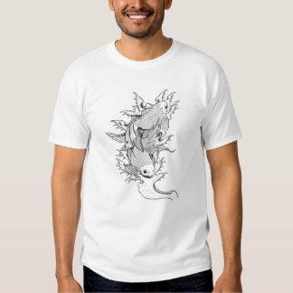 Cool Oriental Japanese Twin Koi Carp Fish tattoo Tshirts