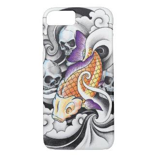 Cool Oriental Koi Carp Skull tattoo iPhone 7 Case