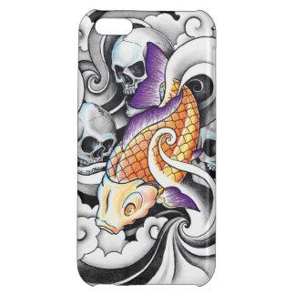 Cool Oriental Koi Carp Skull tattoo iPhone 5C Covers