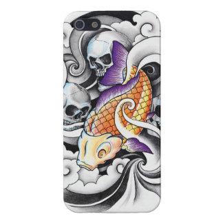 Cool Oriental Koi Carp Skull tattoo iPhone 5/5S Covers