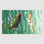 Cool oriental lucky koi fishes emerald water art