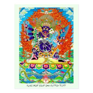 Cool oriental tangka Yamantaka death god tattoo Postcard