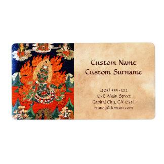 Cool oriental tibetan god thangka tattoo art