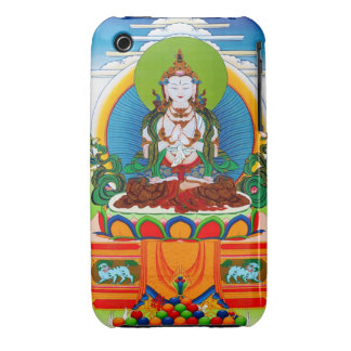 Cool oriental tibetan thangka Buddha Locani iPhone 3 Case