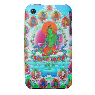 Cool oriental tibetan thangka Green Tara  tattoo Case-Mate iPhone 3 Case