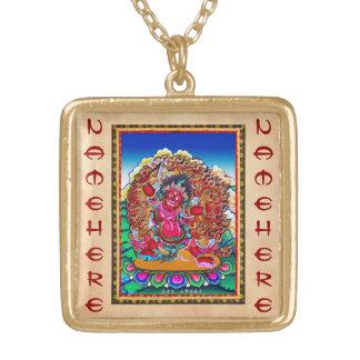 Cool oriental tibetan thangka tattoo Hayagriva Gold Plated Necklace