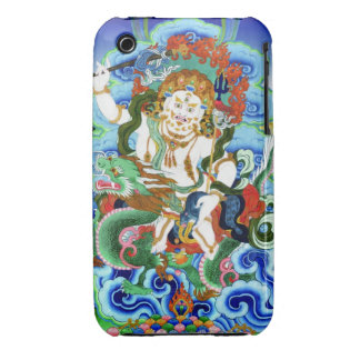 Cool oriental tibetan thangka White Jambhala Case-Mate iPhone 3 Case
