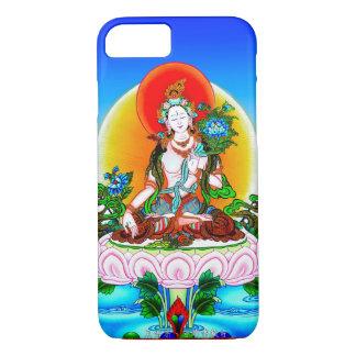Cool oriental tibetan thangka White Tara tattoo iPhone 7 Case