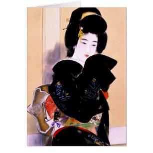 Cool oriental traditional japanese geisha lady art