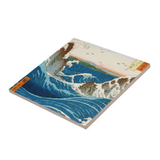 Cool oriental traditional japanese waterscape sea tile