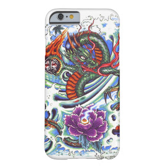 Cool Oriental Water Dragon Purple Lotus tattoo Barely There iPhone 6 Case