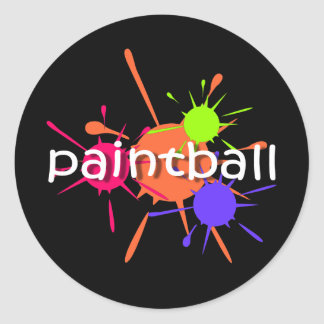 Cool paintball classic round sticker