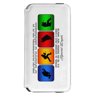 Cool Paintball It Is A Way Of Life Incipio Watson™ iPhone 6 Wallet Case