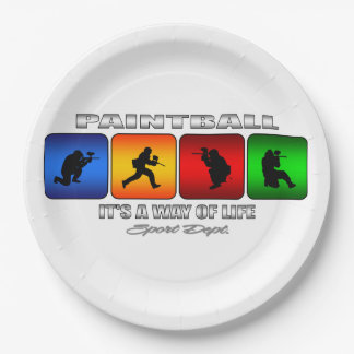 Cool Paintball It Is A Way Of Life Paper Plate