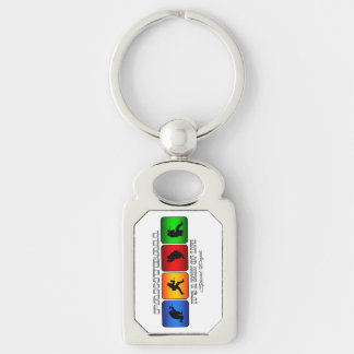Cool Paintball It Is A Way Of Life Silver-Colored Rectangle Key Ring