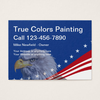 Cool Painter Americana Theme Business Card