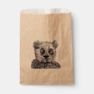 Cool Panda Custom Kraft Favor Bag Favour Bags